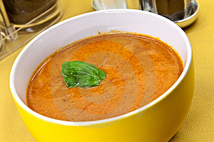 Soup From Beet And Tomato  With Sour Cream, View F Royalty Free Stock Image - Image: 9023096