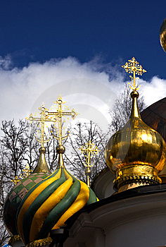 Christian Ortodoxal Domes Of Temple. Spaso-Preobra Stock Images - Image: 9023244