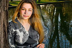 Beautiful Sensual Young Woman Outdoors Royalty Free Stock Image - Image: 9023476