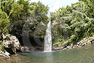 Tavorno waterfall Stock Photo