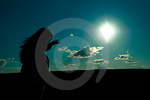 Silhouette Royalty Free Stock Photo - Image: 9025005