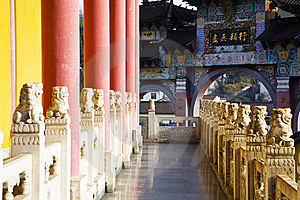 Gallery In The Temple Stock Image - Image: 9026481