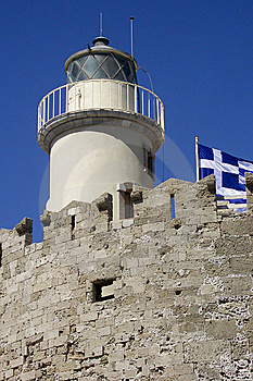 Lighthouse Rhodes, Greece Stock Photos - Image: 9026873