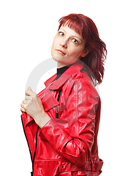 Woman In Red Jacket Stock Images - Image: 9027024