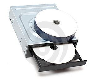 Drive And Recordable Disks Royalty Free Stock Photos - Image: 9027658