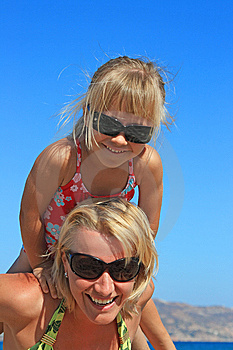 Happy Mum With A Daughter Stock Image - Image: 9027661
