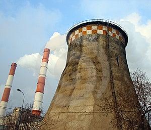 Pipes With Smoke Stock Image - Image: 9027731