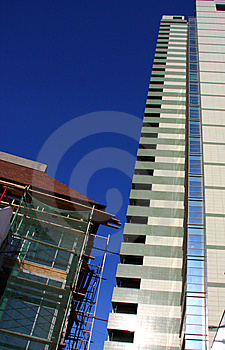 Contrast Of Two Buildings Royalty Free Stock Photography - Image: 9027807
