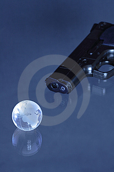 Globe Like A Target Stock Photography - Image: 9029592