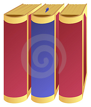 Trois Livres Photos libres de droits - Image: 9030958