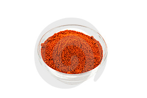 Paprika Powder In Glass Bowl Stock Images - Image: 9032694