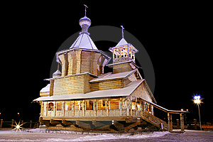 The Old-time Wooden Church. Royalty Free Stock Images - Image: 9033379