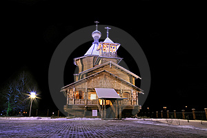 The Old-time Wooden Church. Royalty Free Stock Image - Image: 9033436