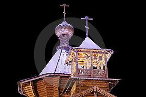 The Old-time Wooden Church. Stock Photography - Image: 9033482