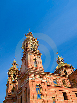 Reconstruction Of St. Uspenski Cathedral Royalty Free Stock Photo - Image: 9034685