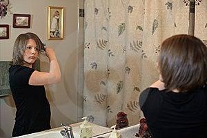 Doing Hair Stock Photos - Image: 9035273