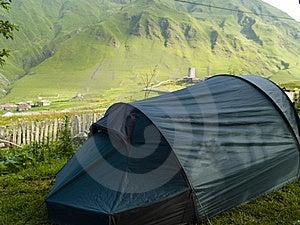 Tent In Ushguli Stock Photography - Image: 9035512