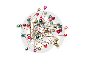 Multi-coloured Sewing Pins Royalty Free Stock Image - Image: 9035976