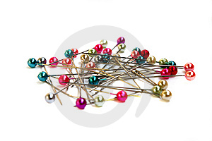 Multi-coloured Sewing Pins Stock Image - Image: 9035991