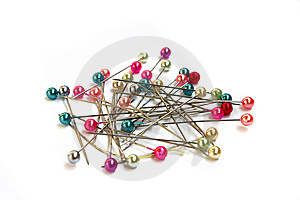 Multi-coloured Sewing Pins Royalty Free Stock Photos - Image: 9036008