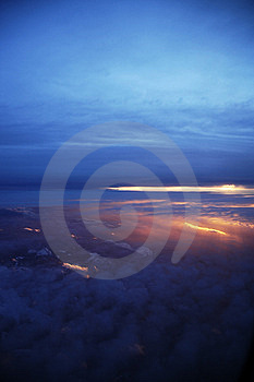 Sunset At 30,000 Feet Stock Photos - Image: 9036643