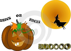 Witchy Halloween Royalty Free Stock Photos - Image: 9037938