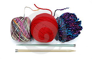 Yarns And Needles Royalty Free Stock Image - Image: 9038116