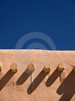 Adobe Roof And Sky Stock Photos - Image: 9038263