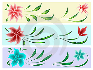Floral Elements Stock Images - Image: 9038414