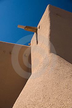 Adobe Roof And Sky Royalty Free Stock Photography - Image: 9038417