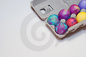 Died Easter Eggs In A Carton Stock Photos - Image: 9038463