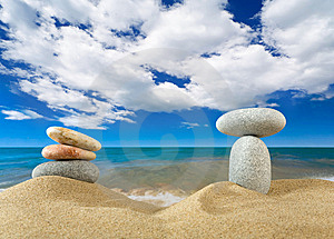 Landscape With Stones On Sky Royalty Free Stock Photography - Image: 9039867
