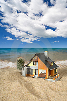 House On Sand. Stock Images - Image: 9039884
