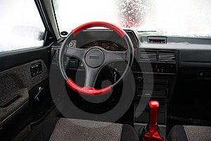 Car Inside Salon Stock Photography - Image: 9040302