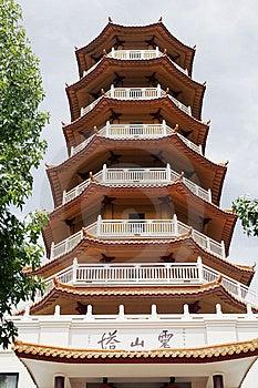 Templo Chino - Pagoda De Siete Niveles Fotografía de archivo libre de regalías - Imagen: 9041307