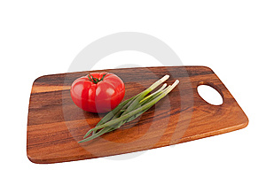 Tomto And Chive On Board Stock Photo - Image: 9041520