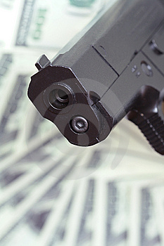Gun And Money Stock Images - Image: 9041574