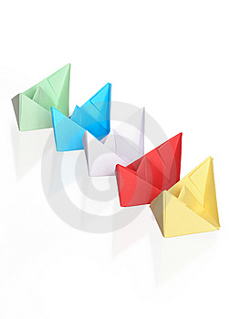 Paper Boats Royalty Free Stock Photos - Image: 9041608