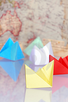 Paper Boats Royalty Free Stock Image - Image: 9041616