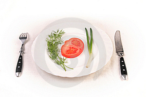 Almost Empty Plate Royalty Free Stock Photos - Image: 9041718