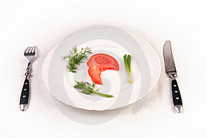 Almost Empty Plate Stock Photos - Image: 9041723