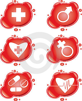 Icônes Médicales Image stock - Image: 9042781