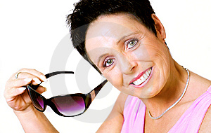 Mature Woman With Sunglasses Royalty Free Stock Photos - Image: 9042828