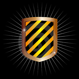 Metal Frame Shield (vector) Royalty Free Stock Photography - Image: 9043107