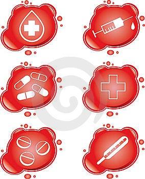 иконы медицинские Стоковое Изображение RF - изображение: 9044646