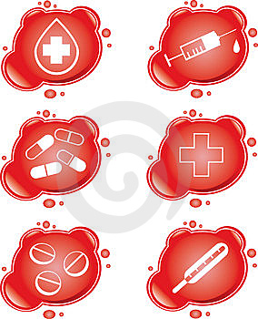 Ikony Medyczne Obraz Royalty Free - Obraz: 9044646