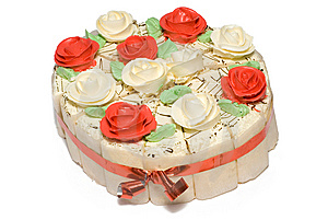 Festive Cake With Roses Stock Images - Image: 9047024