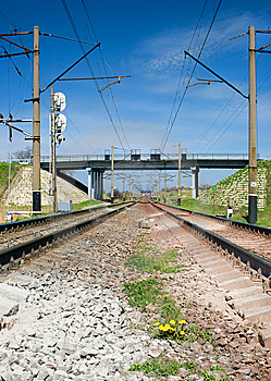 The Railway Royalty Free Stock Photography - Image: 9047877