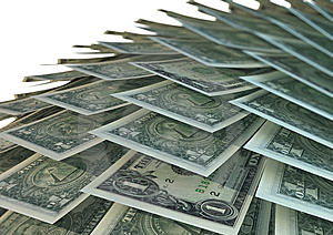 Stacked American Dollar Bills Stock Photography - Image: 9048292