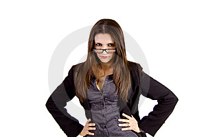Tough Business Woman Royalty Free Stock Image - Image: 9050206